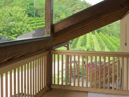 Balkon in Lärchenholz
