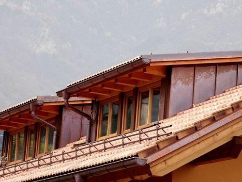 Dachstuhl mit Schleppgauben