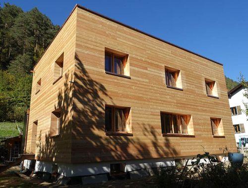 Fassadenverkleidung in Lärchenholz